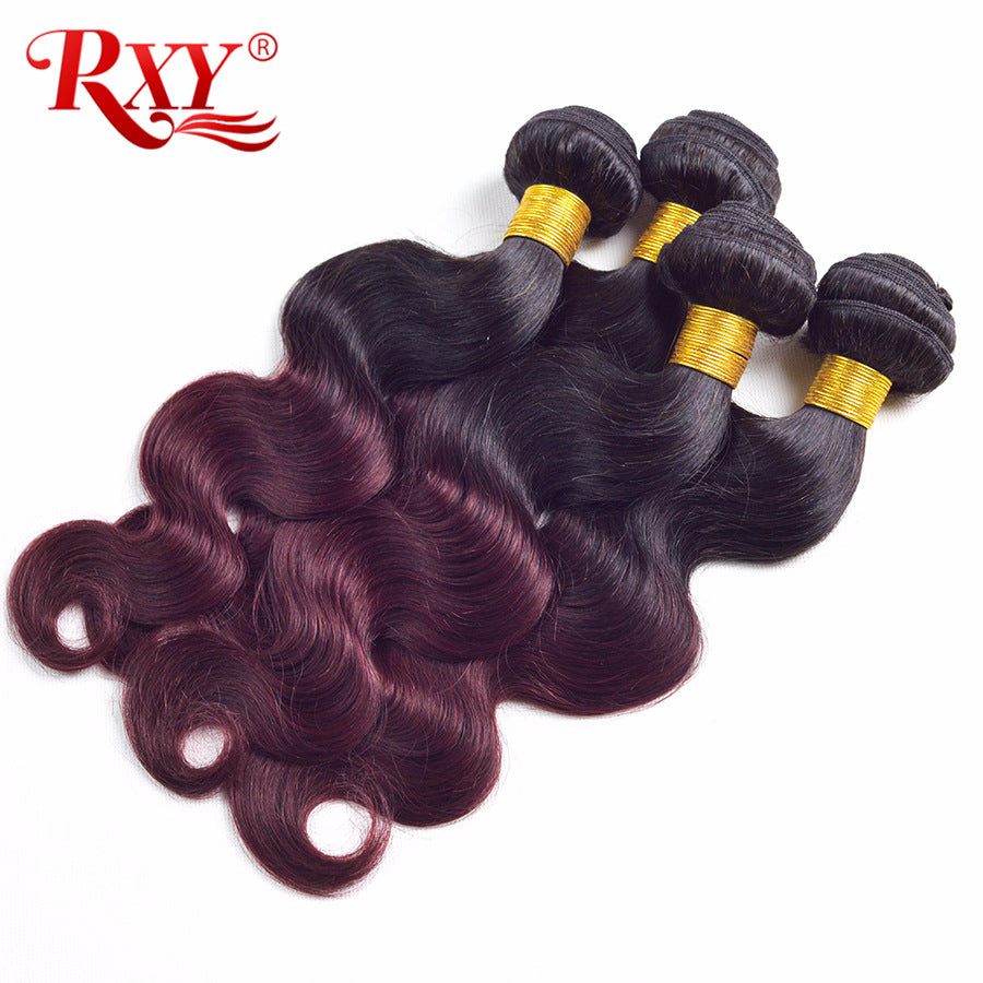 Brazilian Ombre Burgundy Hair Weave - HairBundlez