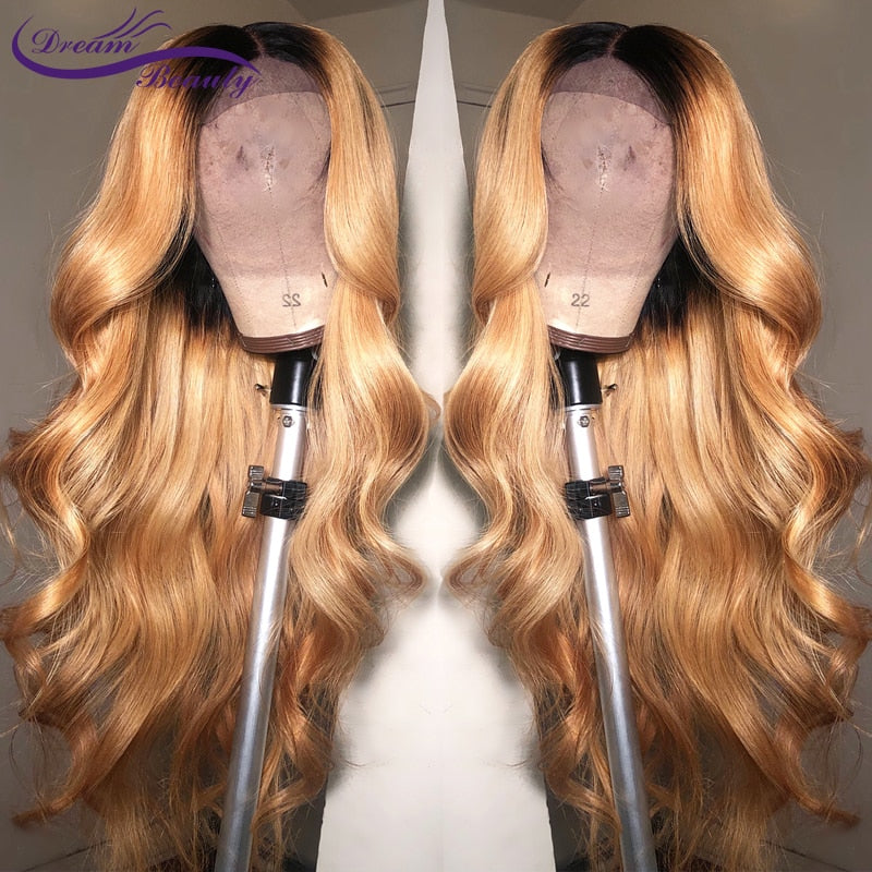 Body Wave Ombre long deep part Front lace Wig