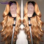 Body Wave Ombre long deep part Front lace Wig - HairBundlez
