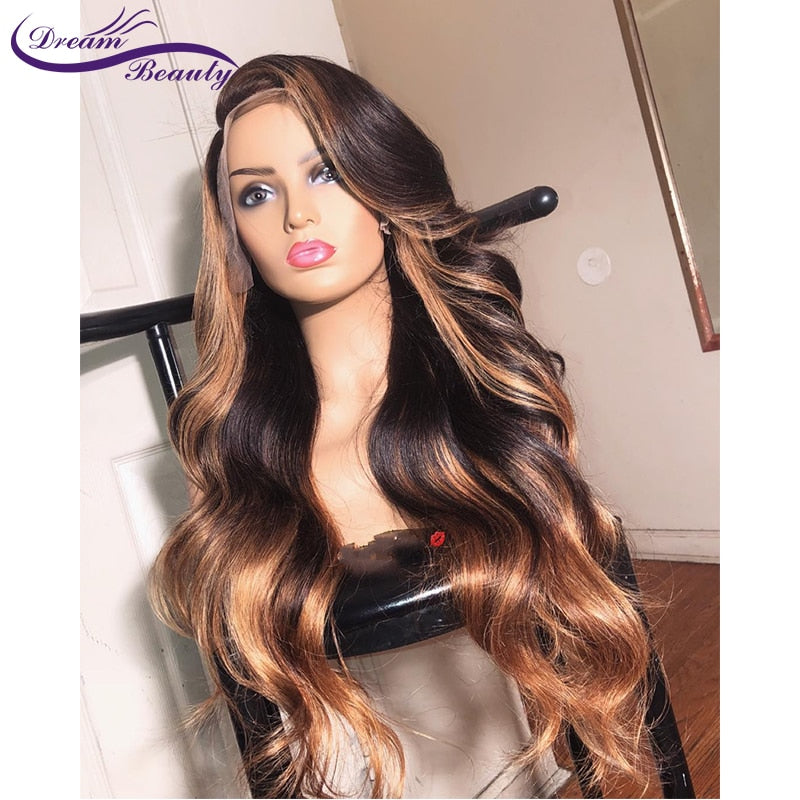 Deep part, Lace Front Wig, Body Wave, 180% Density - HairBundlez