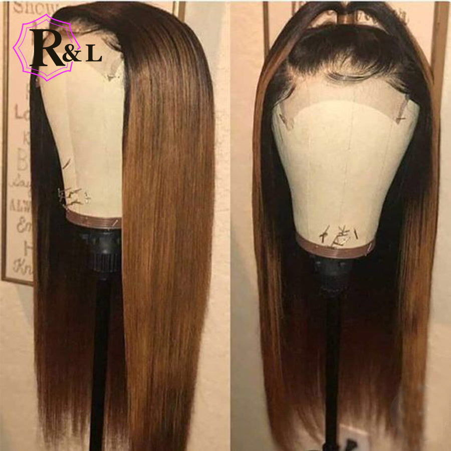 1B/27 Ombre Lace Front Human Hair Wig - HairBundlez