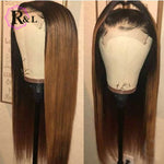 1B/27 Ombre Lace Front Human Hair Wig