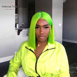 Green Bob Wig - HairBundlez