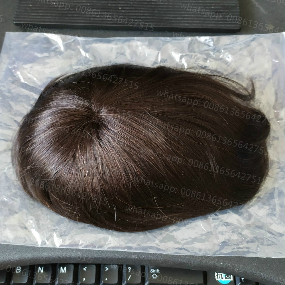 Men's Toupee Hair, 100% Natural Remy Hair - HairBundlez