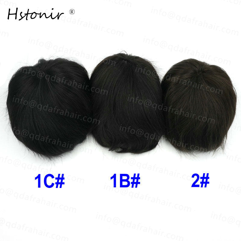 Men's Toupee Hair, 100% Natural Remy Hair