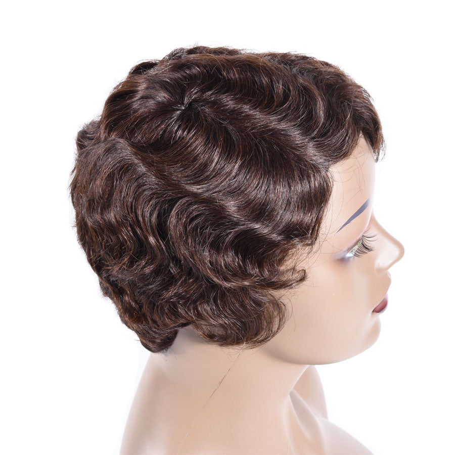 Short Finger Wave Wig