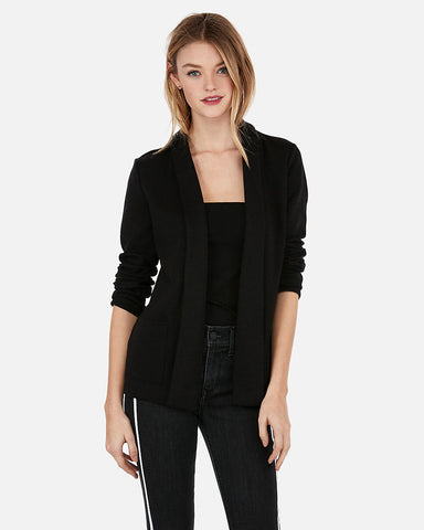 Girlfriend Soft Knit Cover-Up in Black