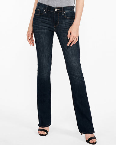Mid Rise Stretch Barely Boot Jeans In Dark