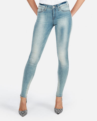 Mid Rise Faded Stretch+ Jean Leggings In Light