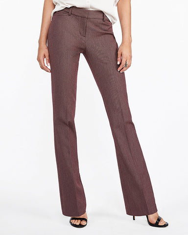 Mid Rise Birdseye Barely Boot Columnist Pant In Purple