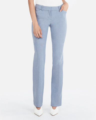 Low Rise Barely Boot Editor Pant In Light Blue