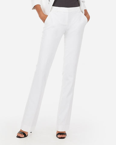 Mid Rise Barely Boot Columnist Pant in White