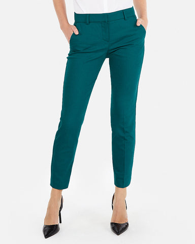 Mid Rise Ankle Columnist Pant In Festive Green