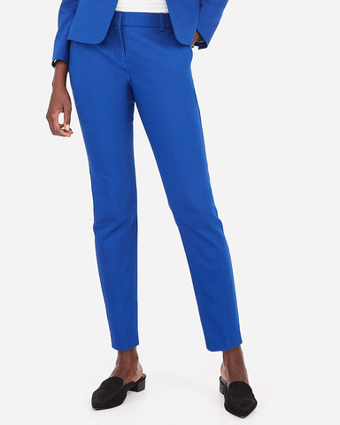 Mid Rise Ankle Columnist Pant in Blue
