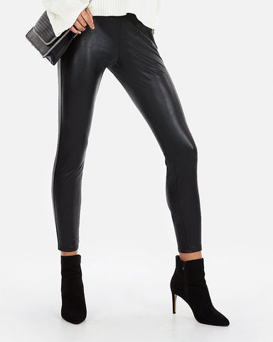 High Waisted (Minus The) Leather Leggings In Black