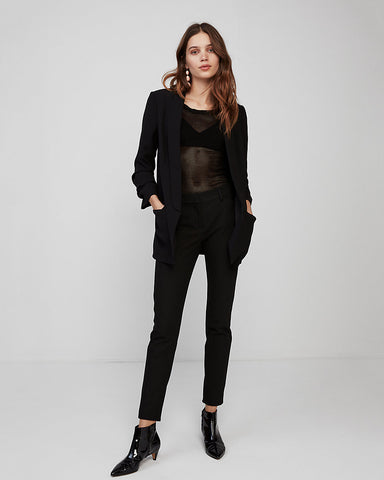 Mid Rise Stretch Skinny Pant In Pitch Black