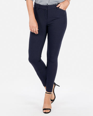 Mid Rise Stretch Skinny Pant in Navy