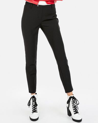 Mid Rise Extreme Stretch Pull-On Ankle Leggings In Black