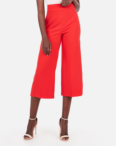 269faf241a38 Express High Waisted Culottes in Red