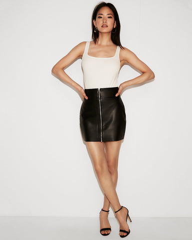 (Minus The) Leather O-Ring A-Line Skirt In Pitch Black