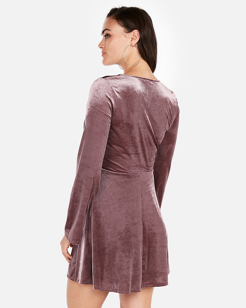 27ad938eab Velvet Surplice Fit And Flare Dress in Thornberry