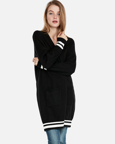 Long Dolman Sleeve Cover-Up In Pitch Black