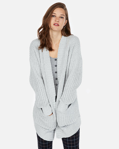 Cozy Chenille Cover-Up in Silver Gray