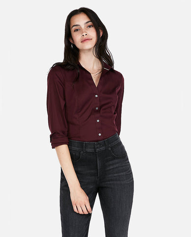 Original Long Sleeve Essential Shirt In Maroon