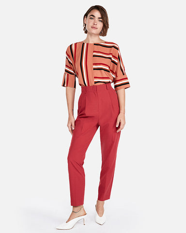 Striped Tie-Back Blouse In Stripe