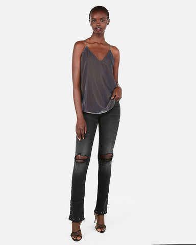 Velvet Downtown Cami in Slate Gray