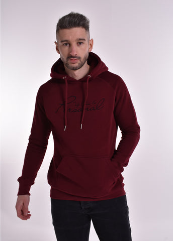 Up Close & Personal Pullover Signature Hoodie - Burgundy