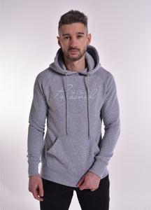 Up Close & Personal Pullover Signature Hoodie - Grey