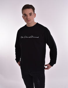 Up Close & Personal Printed Signature Sweatshirt - Black/White
