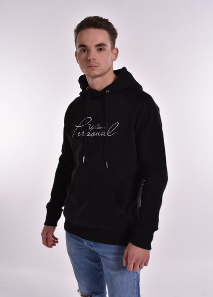 Up Close & Personal Pullover Signature Hoodie - Black/White