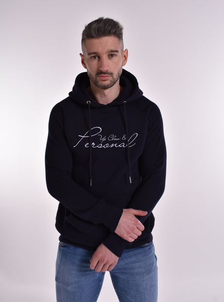 Up Close & Personal Pullover Signature Hoodie - Navy