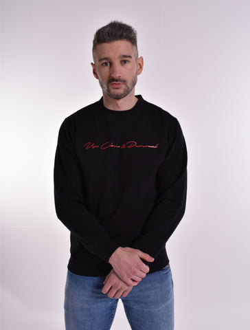 Up Close & Personal Printed Signature Sweatshirt - Black/Red