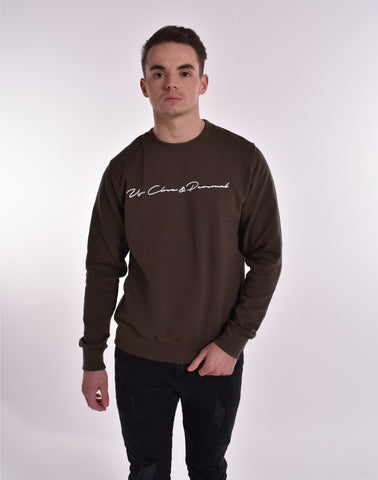Up Close & Personal Printed Signature Sweatshirt - Khaki