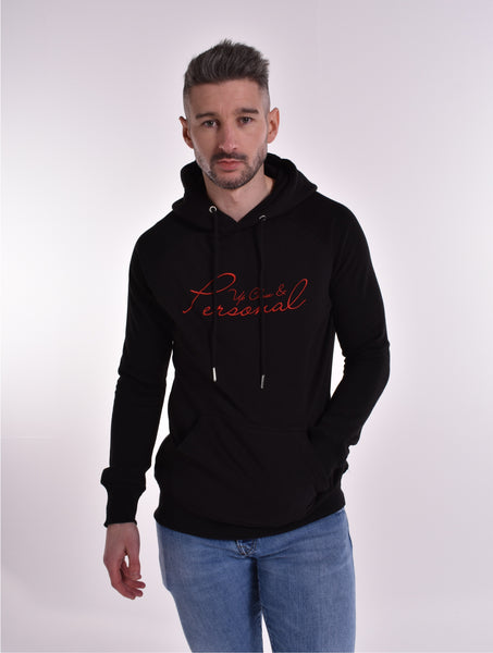 Up Close & Personal Pullover Signature Hoodie - Black/Red