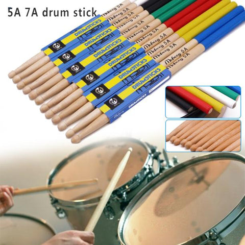 Drumsticks 5a Professional One Pair Wood Drum Sticks 7a Stick For Drum