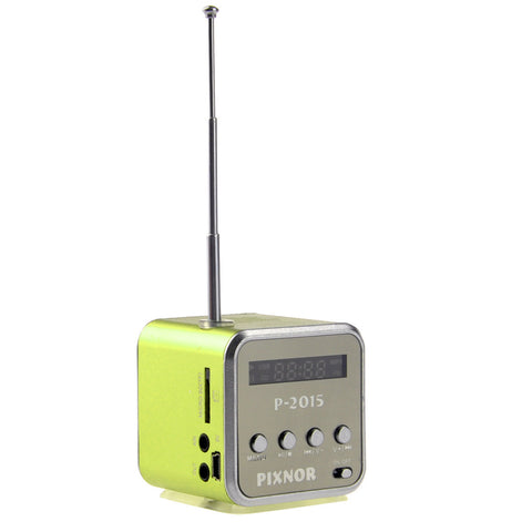 PIXNOR Mini Digital Speaker Music Player with FM /TF Slot /USB /LED Light for iPhone /iPad /Cellphone /PC /MP3