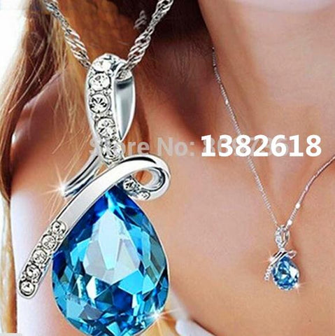 x331  Hot Quality Austrian Crystal Water Drop Pendant Necklace Fashion 2016 Womens Jewellery 1pcs/ Free Shipping