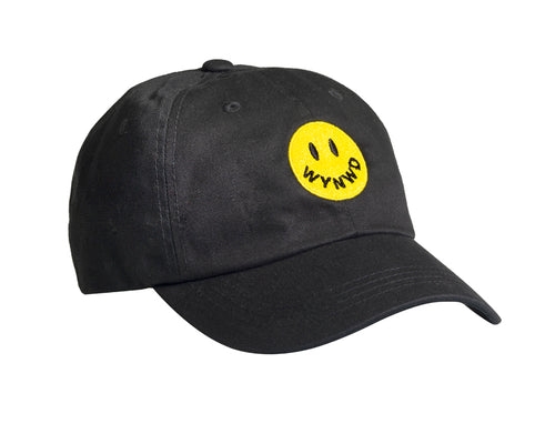 Black Smiley Dad Hat