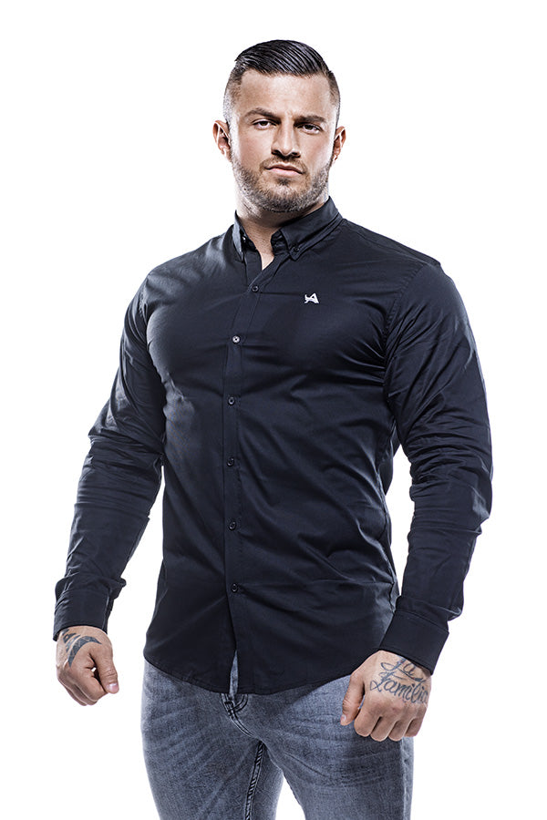 Cotton Muscle Fit Shirt Black