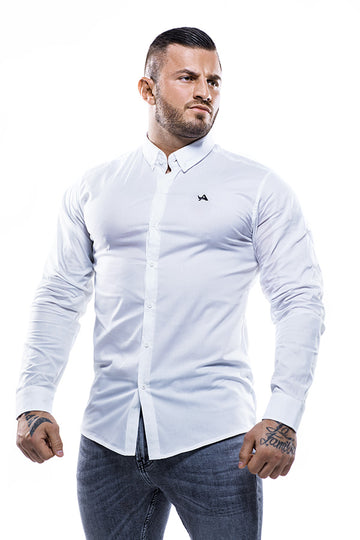 Cotton Muscle Fit Shirt White