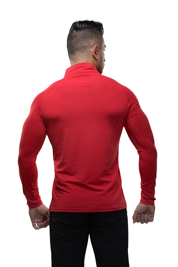 Zip Pullover Red