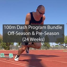 100 Meter Dash Training Program Off-Season & Pre-Season Bundle ATHLETE.X