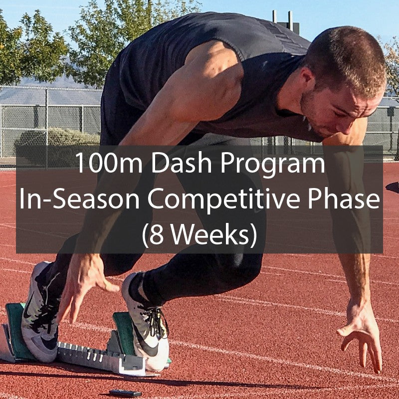 100m Dash Sprint Training Program - In Season Competitive Phase ATHLETE.X