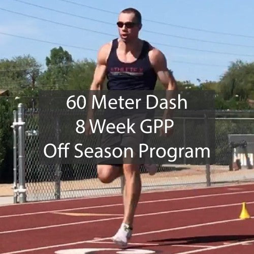 60 Meter Dash GPP Sprint Training Program - Indoor 60m Dash Sprint Training Sprinting Workouts by ATHLETE.X