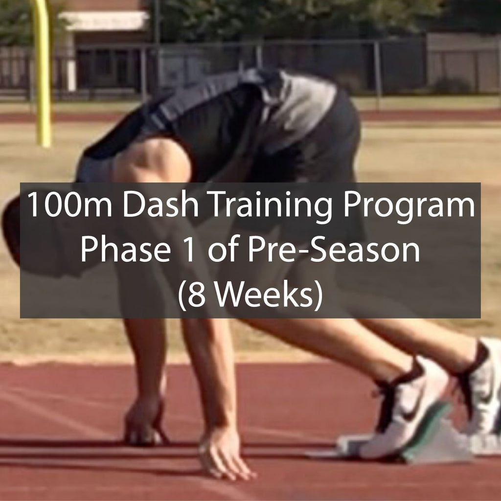 PRE-SEASON 100m Dash Training Program - Phase 1 of 2 ATHLETE.X