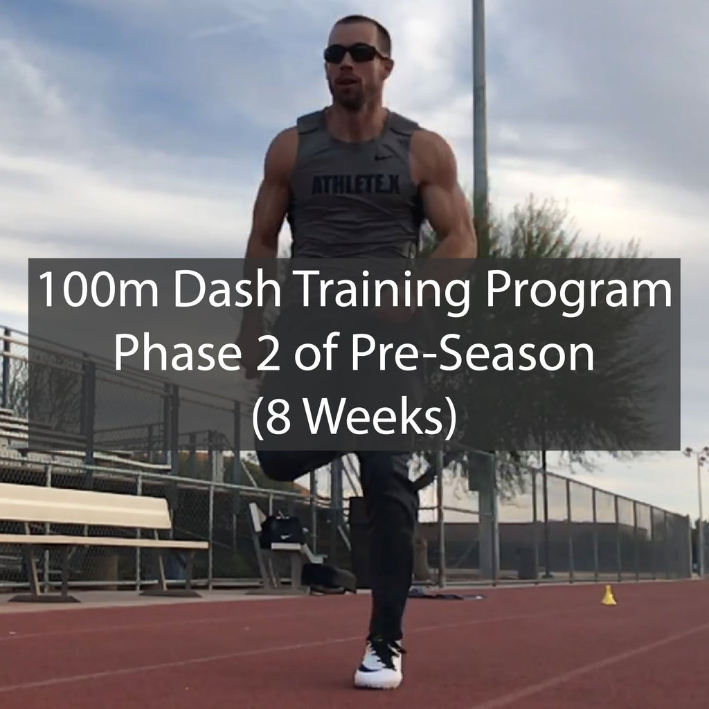 PRE-SEASON 100m Dash Training Program - Phase 2 of 2 ATHLETE.X
